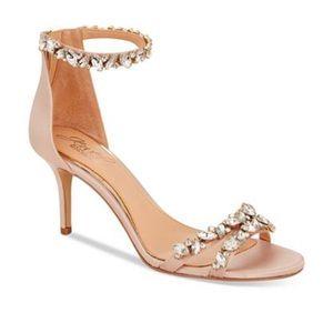 Badgley Mischka Jeweled Sandals